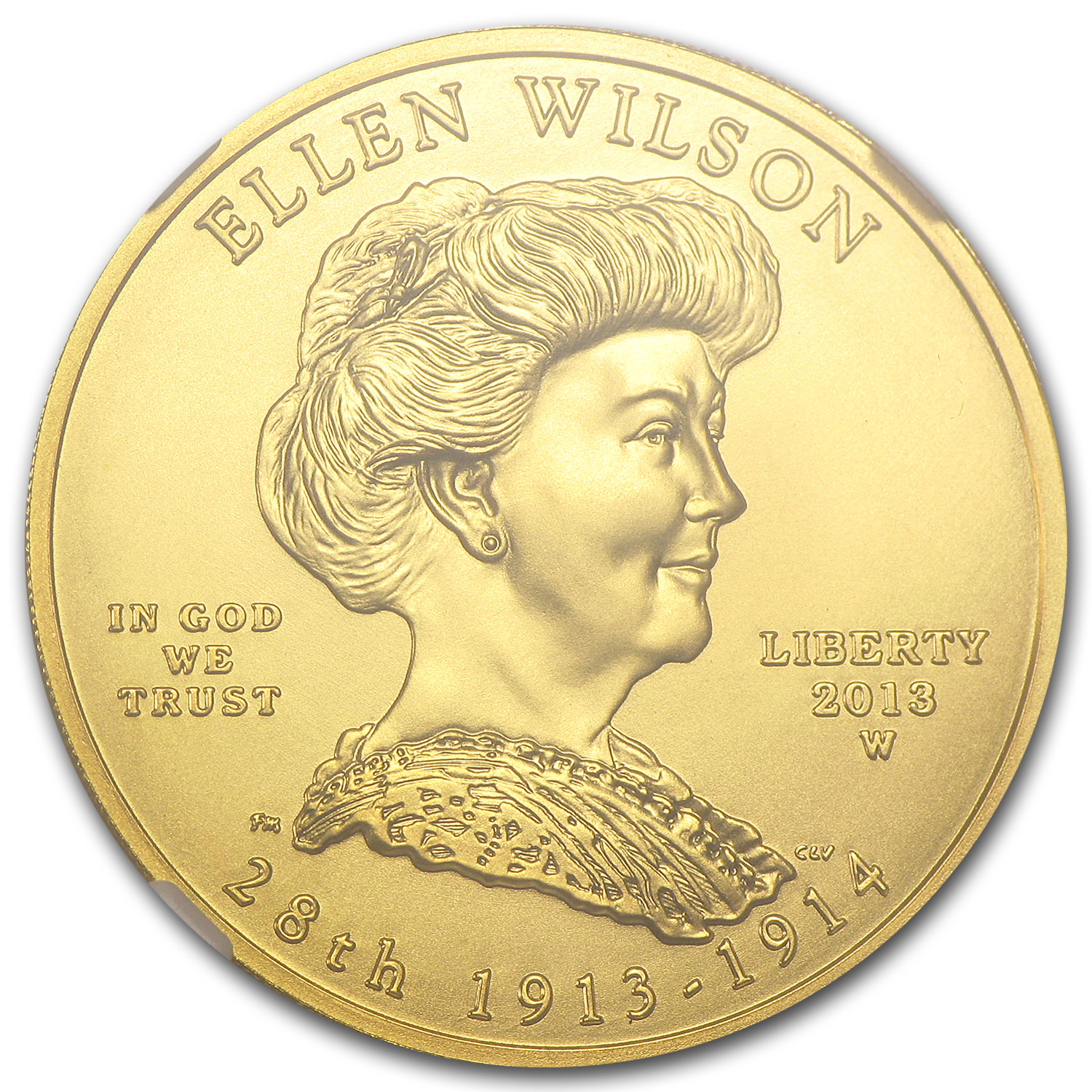 2013-W 1/2 oz Gold Ellen Wilson MS-70 NGC (Early Release)